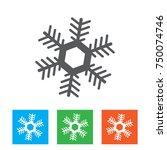 snowflake icon graphic.... | Shutterstock .eps vector #750074746