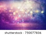 purple glitter lights... | Shutterstock . vector #750077836