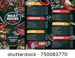 meat house restaurant menu... | Shutterstock .eps vector #750083770