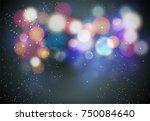 black bokeh background | Shutterstock .eps vector #750084640