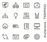 machine learning icon set....   Shutterstock .eps vector #750099433
