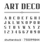 vector of art deco font and...   Shutterstock .eps vector #750099844