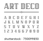 vector of art deco font and...   Shutterstock .eps vector #750099850