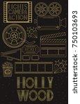 night movie party invitation... | Shutterstock .eps vector #750103693