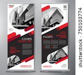 business roll up. standee... | Shutterstock .eps vector #750103774