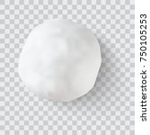 realistic snow ball vector... | Shutterstock .eps vector #750105253