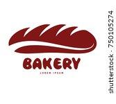 bakery and hot bread logo... | Shutterstock .eps vector #750105274