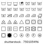 icon set of laundry symbols ... | Shutterstock .eps vector #750105496