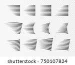 speed lines isolated. set of...   Shutterstock .eps vector #750107824