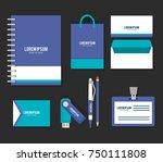 business printed advertising... | Shutterstock .eps vector #750111808