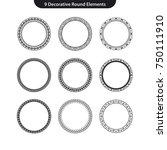 9 decorative round vector... | Shutterstock .eps vector #750111910