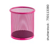 red basket for pens and pencils ... | Shutterstock . vector #750113380