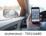 man searching destination...   Shutterstock . vector #750116680