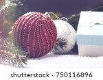 christmas decorative elements... | Shutterstock . vector #750116896