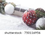 christmas decorative elements... | Shutterstock . vector #750116956