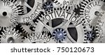 macro photo of tooth wheel... | Shutterstock . vector #750120673