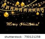 vector illustration of merry...   Shutterstock .eps vector #750121258