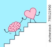 heart helping hand brain to... | Shutterstock .eps vector #750121900