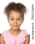 smiling five years old adorable ... | Shutterstock . vector #750123694