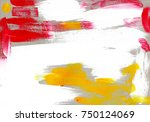 multicolor acrylic paint... | Shutterstock . vector #750124069