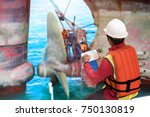 foreman report on line the... | Shutterstock . vector #750130819