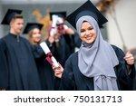 group of diverse international... | Shutterstock . vector #750131713