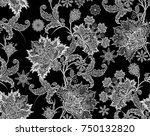 seamless pattern. brilliant... | Shutterstock . vector #750132820
