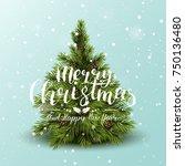 modern christmas greeting card... | Shutterstock .eps vector #750136480
