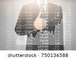 analysing illustrated chart... | Shutterstock . vector #750136588