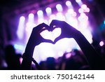 portrait of happy crowd... | Shutterstock . vector #750142144