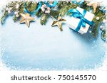 Christmas Background. Snow Fir...