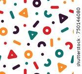 creative seamless pattern  ... | Shutterstock .eps vector #750146080