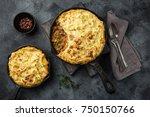 shepherd's pie. minced meat ... | Shutterstock . vector #750150766