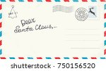 dear santa claus letter | Shutterstock .eps vector #750156520