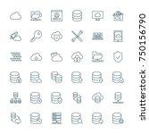 database  cloud computing ... | Shutterstock .eps vector #750156790