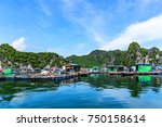 floating fishing village and... | Shutterstock . vector #750158614