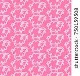vector illustration of a white... | Shutterstock .eps vector #750159508