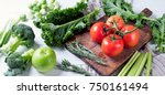 fresh raw vegetables. healthy... | Shutterstock . vector #750161494