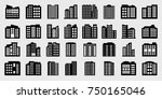 company icons set  big building ... | Shutterstock .eps vector #750165046