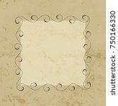 elegant hand drawn retro floral ...   Shutterstock . vector #750166330