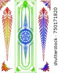 classic stained glass design in ... | Shutterstock .eps vector #750171820
