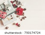 merry christmas concept.... | Shutterstock . vector #750174724