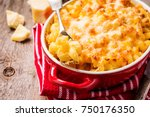 mac and cheese  american style... | Shutterstock . vector #750176350
