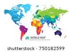 world map vector illustrator  | Shutterstock .eps vector #750182599