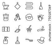thin line icon set   toilet ...   Shutterstock .eps vector #750187369