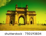 gateway of india at morning ... | Shutterstock . vector #750193834