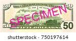 50 us dollar bank note reverse | Shutterstock . vector #750197614