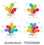 set of 3 6 options infographics ... | Shutterstock .eps vector #750200668