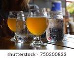 cold glasses  goblets  jars of... | Shutterstock . vector #750200833