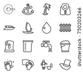 thin line icon set   cell... | Shutterstock .eps vector #750203266